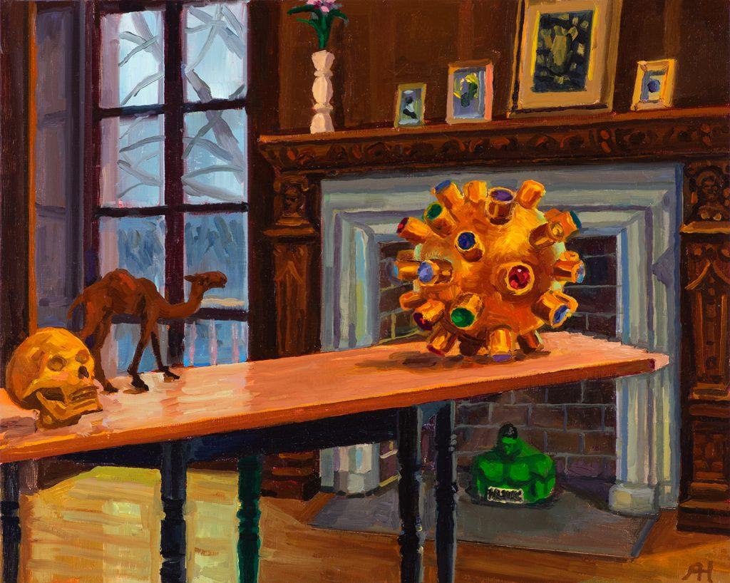 "Dake Gallery Third View, oil on wood, 8"" x 10"", 2019"