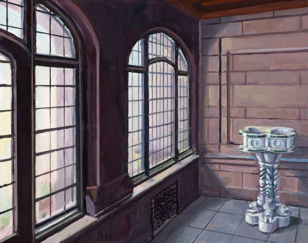 "Enclosed Front Porch, 8"" x 10"", oil on wood, 2019"