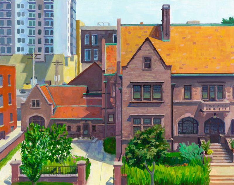 "Charles Allis from Across Royall, oil on wood, 11"" x 14"", 2019"